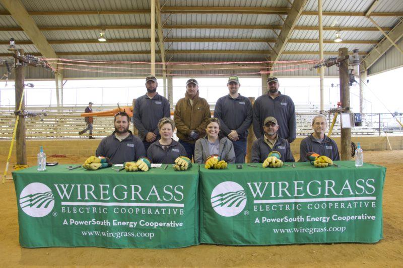 wiregrass employess at booth at an event