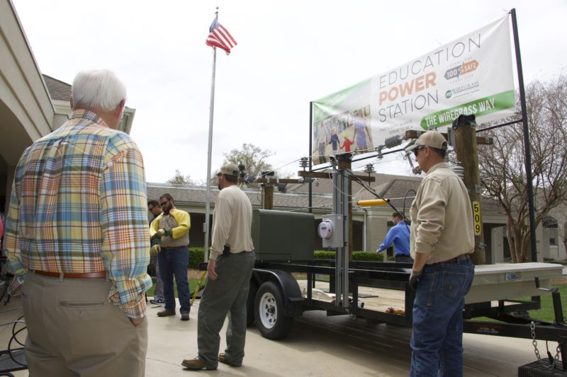 wiregrass employees at event outside with the public